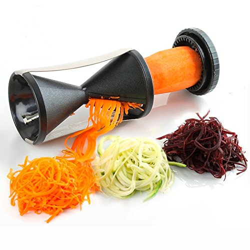 Family Home Spiralizer, Spiral Vegetable Slicer & Zucchini Pasta Noodle Spaghetti Maker (Colors May Vary)