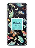 Oihxse Silicone Transparente Case avec Motif Papillon Compatible pour Xiaomi Mi Note 10/Note 10 Pro Coque Souple TPU Gel Mode 3D Dessin Étui Ultra Mince Antichoc Anti-Rayures Cover,Multicolore 2