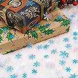HOWAF 500 Stück Weihnachten Schneeflocken Konfetti, Weihnachten Winter deko Blau und Weiß Schneeflocken Streudeko Schneeflocken Konfetti Tischdeko, Hochzeit, Geburtstag, Weihnachts Dekorationen - 4