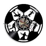 txyang Football Horloge Murale Joueurs De Football But Kick Ball But Net Terrain De Futball Équipe...