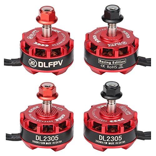 DLFPV 4pcs DL2305 2600KV Brushless Motor 2-4S for X210 X220 250 300 FPV Racer Drone Quadcopter...