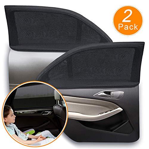 OSAH DRYPAK Sonnenblende Auto Sonnenschutz Auto Baby mit Zertifiziertem UV Schutz, Universal Sonnenblende Auto Netz, für Baby, Kinder, Haustiere, UV-Schutz Schattierung und Wärmedämmung - 2 Stück