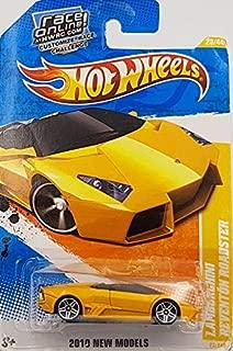 Hot Wheels 2010 Lamborghini REVENTON Roadster (Dark Yellow) #25/274, HW Premiere #25/52 (Short Card)