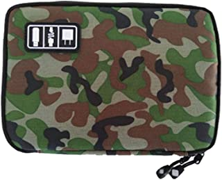 Rubik Camouflage Cables Management and Storage Case Travel Organizer Bag For Cables, Harddisk, USB Flashdrives (Army Style)