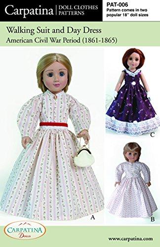"Pattern for Civil War Period - fits 18"" American Girl Dolls"