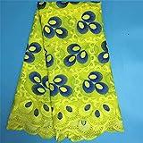 Damenkleid, aus Baumwolle, mit Spitze, nigerianische