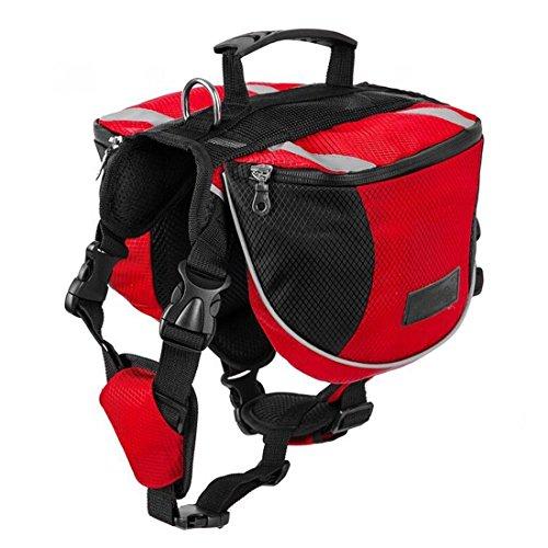 Gaorui Rucksack für Hunde, wasserdicht, Satteltasche, Geschirr zum Wandern, Camping, Trainingstasche, Größe L