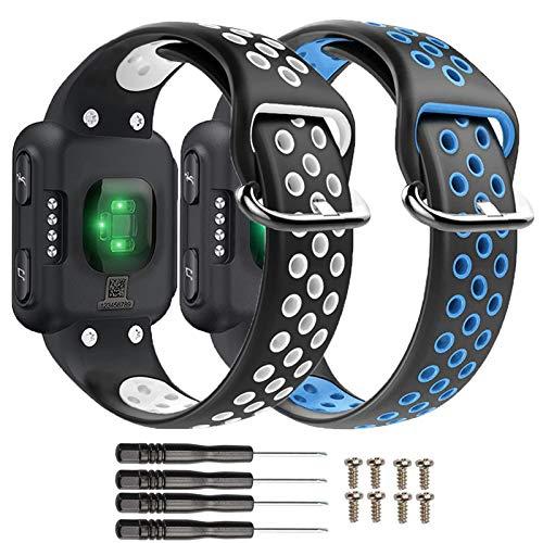 nuosiweilang Compatible Garmin Forerunner 35 Correa,de Reloj de Repuesto de Silicona para Garmin Forerunner 35 Reloj Inteligente para Hombres y Mujeres