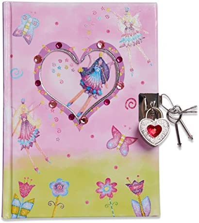 Lucy Locket Beautiful Fairy Butterfly Kids Secret Diary Lockable Diary with Padlock Keys Pink product image
