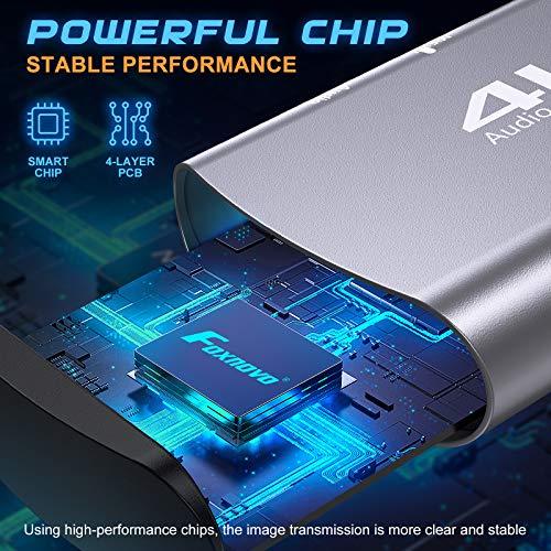 Foxnovo HDMI Capture Karte: 4k Loop Out USB 3.0 Videoaufnahmekarte - 1080p 60fps High Image Game Recorder Gerät für Xbox丨Ps4丨Switch