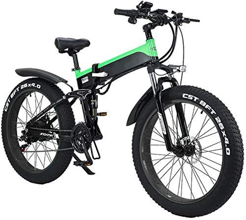 Bciclette Elettriche, Pieghevole bici elettrica for gli adulti, 26' bicicletta elettrica / Commute Ebike con 500W motore, 21 velocità di trasmissione Ingranaggi, portatile facile da riporre in Caravan