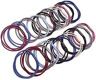 20PCS Hair Bands 3 in 1 Seam Elastic Multi Colored Hair Ties Ponytail Band 2 inch in Diameter Hair Accessories for Women and Girls
