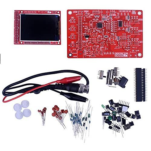 WEI-LUONG Osciloscopio DSO FNIRSI Pro Handheld Mini Osciloscope 5M Ancho de Banda 20MSP Muestra tasa de amplificación Tasa de amplificación con P6020 BNC Probe estándar^ (Color : DS0138 Components)