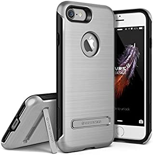 iPhone 7 / 8 Case, VRS Design [Duo Guard Series] Heavy Duty Military Grade Protection with Metal Kickstand - Satin Silver