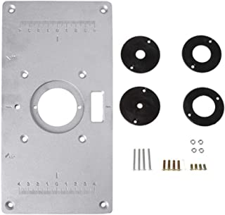 Aluminum Router Table Insert Plate with Rings Screws for Woodworking