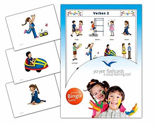 Yo-Yee Flashcards Bildkarten Verben mit Bingospiel für den Sprachunterricht - Set 2 - Für Sprachunterricht und Sprachförderung in Kita, Kindergarten und Grundschulen