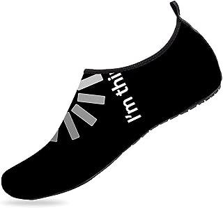 BEOT 3D Printed Water Sports Shoes Barefoot Quick-Dry Blue Marble Aqua Yoga Socks for Men Women