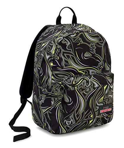 Ischoolpack Seven Wildy Boy, 27 Lt, Verde, Tasca Porta Laptop 15'', con Power Bank! Scuola & Tempo Libero