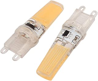 Aexit 2Pcs (Lighting fixtures and controls) AC220V 9W COB LED Corn Light Bulb Silicone Lamp Dimmable G9 2508 (71ry791qf68...