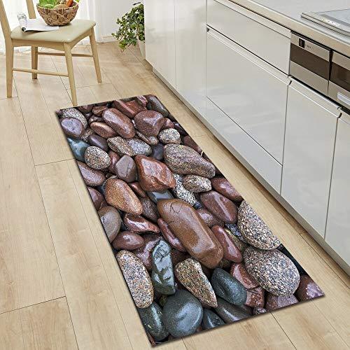 OPLJ Küchenbodenmatte Haushaltstürmatte Schlafzimmer Eingang Rutschfester Teppich Gang Teppich Badezimmer Saugfähiger Teppich A24 50x80cm