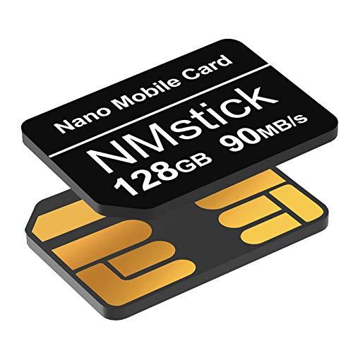 YAOMAISI NM-Karte 128GB 90MB/S Nano-Speicherkarte Nano-Karte Nur für Huawei P30/P30pro/P40-Serie/Mate20-Serie/Mate30-Serie Nano 128 GB-Karte geeignet