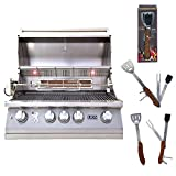 Lion Premium Grills 32' 4-Burner Propane Gas Grill L75000 with 5 in 1 BBQ Tool Set