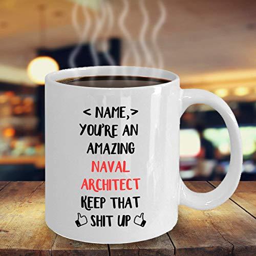 N\A Regalo Personalizado para Arquitecto Naval Regalo de Arquitecto Naval Taza de Arquitecto Naval Regalo para Arquitecto Naval Regalos de Arquitecto Naval
