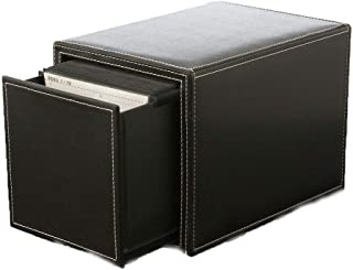 N/Z Home Equipment Record Storage Box Vinyl Record Storage LP Album Box CD Tray Holds 50 CD Cases Record Carrying Case (Co...