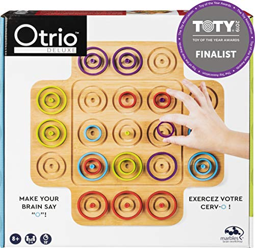 Otrio Wood Strategy – Based Board Game for Adults, Families and Kids Ages 8 and Up