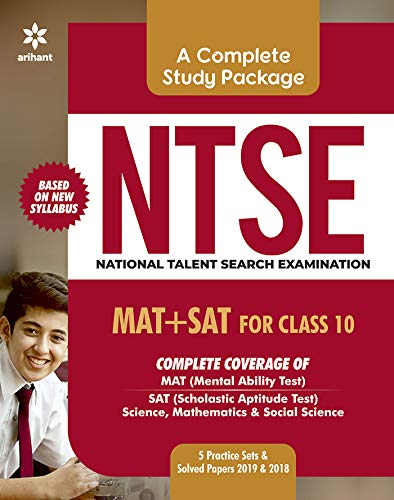 Study Guide NTSE (MAT + SAT) for Class 10th 2019-2018