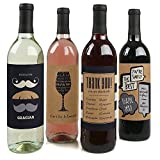 Thank You–Wein Flasche Etiketten Thank You Geschenk–Set of 4
