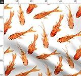Goldfisch, Koi, Orange, Fisch, Wasserfarben, Japanisch