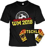WM-Shirt-Set/Fußball-Set/Fan-Set Deutschland-Shirt+Fan-Schal: 1954 1974 1990 2014 Deutschland WM 2018 - geniales Fan-Outfit