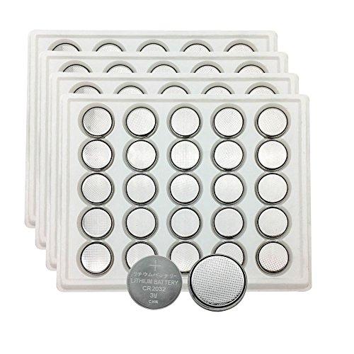 ECR2032 3V Lithium Coin Cell Battery CR2032 (100 Pack)