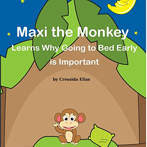 Maxi the Monkey Learns Why Going to Bed Early Is Important Titelbild
