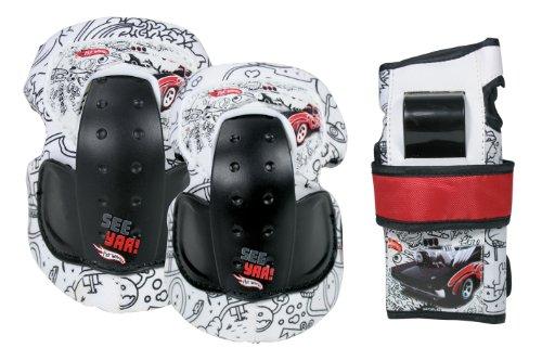 Hot Wheels Kinder Schutz Roger Dodger, Weiss schwarz rot, S, 980259/3