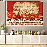 Poster Kommunismus Propaganda Poster Marx Friedrich Engels