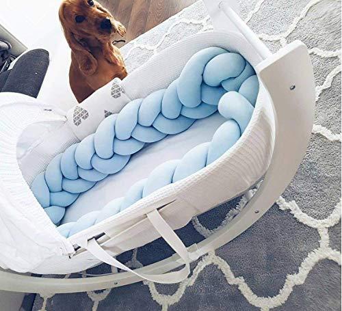 Bettumrandung 150 cm, HEQUN Baby Nestchen Bettumrandung Weben Kantenschut Kopfschutz Stoßfänger Dekoration für Krippe Kinderbett