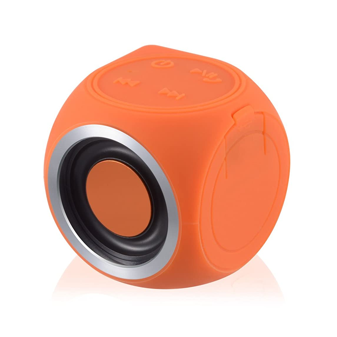 DaLanZom Dice Waterproof Bluetooth Speaker - IPX7 Water-proof Portable Wireless 3D-Tumbler Stereo with Built-in Mic Handsfree for Phone Call, Compatible with IOS and Android - Orange
