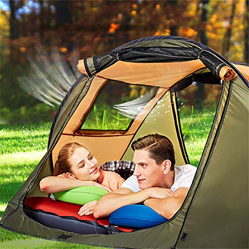 Ultralight Camping Tents Waterproof Windproof Tent Travel Hiking Climbing Tent Send Corresponding Size Moisture-proof Pad,Green,4 to 5 people