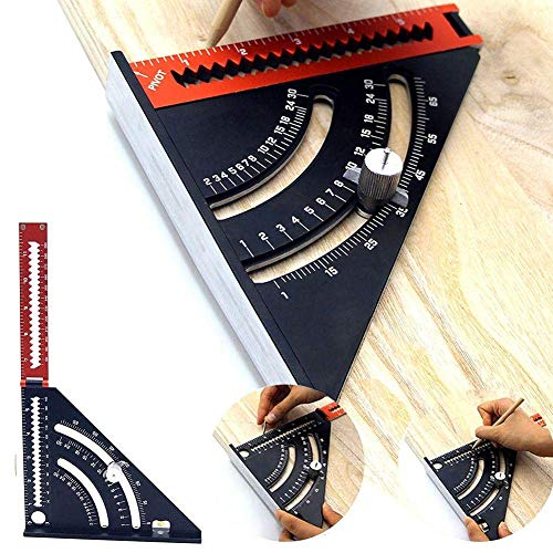 Triángulo plegable regla cuadrada goniómetro velocidad cuadrada extensible diseño herramienta de medición para carpintería construcción
