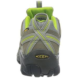 KEEN Women's Voyageur Hiking Shoe, Neutral Gray/Lime Green, 8.5 B - Medium
