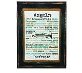 Angeln befreit! Druck Poster A4 Geschenk AnneSvea Typo Deko Angler Fische Fischer Rute Verein...