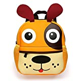 BTSKY Cartera Escolar Infantil con Asa Doble Mochila Graciosa con Diseño de Animales como Mono Perrito Tigre Jirafa Ligero Tamaño Niños de 1-5 Años(Perrito)