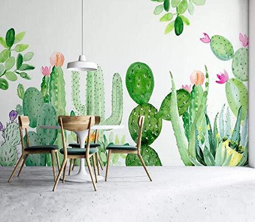 Pintado a mano cactus plantas tropicales papel tapiz TV fondo fondo fondo fondo de pantalla sala de estar dormitorio sin costura pared cubierta decorativo mural*150cmx105cm