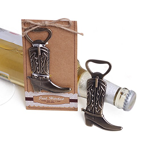 Western Cowboy Boot Bottle Opener Bridal Shower Wedding Favor-20pcs