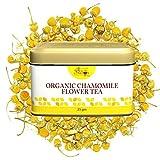The Indian Chai - Organic Chamomile Tea for Sleep, Stress and Anxiety, Caffeine Free (25g, 30 Cups)