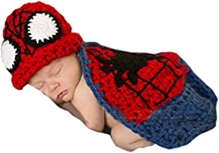 Pinbo Newborn Baby boys Girls Photography Prop Crochet Knitted Spider Hat Cover