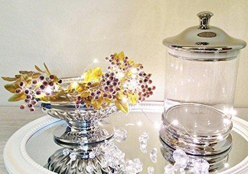 DRULINE Silver Bonbonglas Bonboniere Vorratsglas Vorratsgefäß Glas mit Deckel