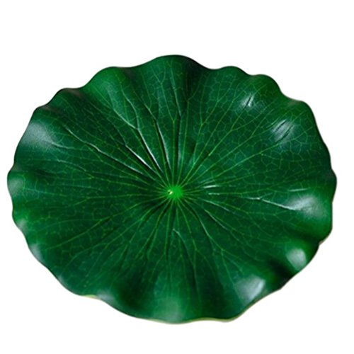 Pixnor 10 18 cm artificielle aquarium Feuille de Lotus flottant pour bassin Decor (Vert)